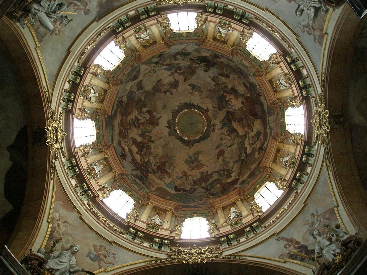 Malířská výzdoba v kupoli kostela